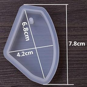 Forma na odlévání pryskyřice - nepravidelný tvar 78x40mm