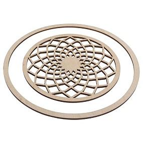 Dřevěný kruh na lapač snů 18cm
