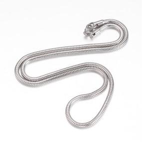 Hadí řetízek chirurgická ocel 51cm se zapínáním, tl. 3mm (RCH10)