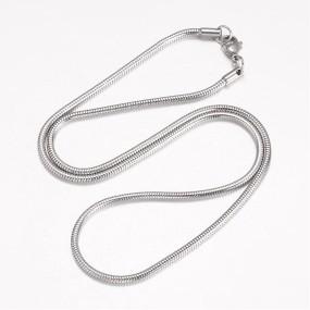 Hadí řetízek chirurgická ocel 51cm se zapínáním, tl. 2,5mm (RCH11)