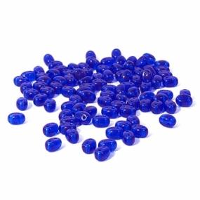 Dvoudírkový rokajl královská modrá průhledná 10g