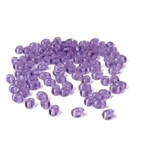 Dvoudírkový rokajl fialová průhledná 10g