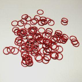 Spojovací kroužky červené 8mm 100ks