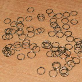 Spojovací kroužky starobronz 10mm 50ks