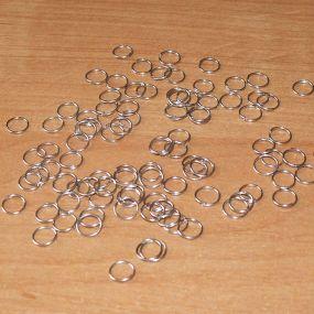 Spojovací kroužky platina 4mm SKP4 100ks