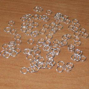 Spojovací kroužky stříbrná b. 10mm SKS10 50ks