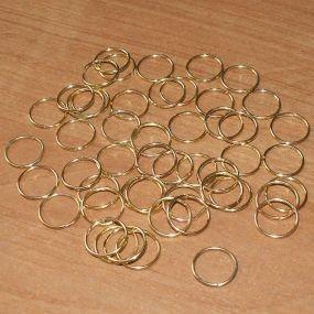 Spojovací kroužky zlatá b. 10mm 50ks