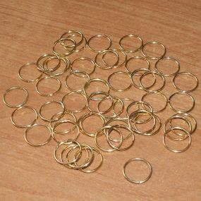 Spojovací kroužky zlatá b. 12mm 50ks