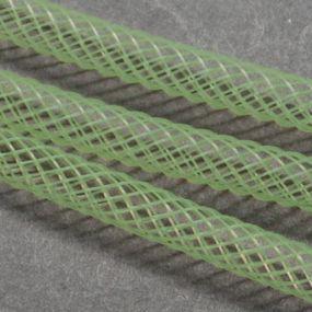 Síťka na korálky (modistická dutinka) 4mm 4m sv.zelená