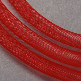 Síťka na korálky (modistická dutinka) 4mm 4m červená