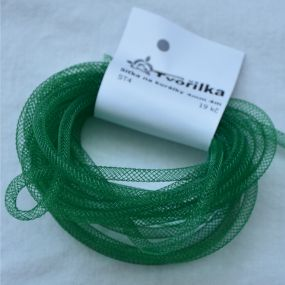 Síťka na korálky (modistická dutinka) 4mm 4m tm.zelená