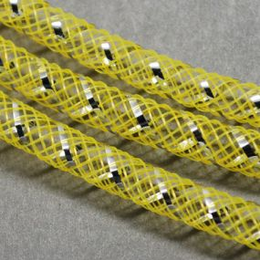 Síťka na korálky (modistická dutinka) 4mm 4m žlutá s průtahem