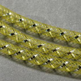 Síťka na korálky (modistická dutinka) 4mm 4m sv.žlutá s průtahem