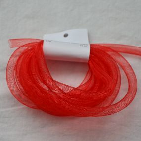 Síťka na korálky (modistická dutinka) 8mm 2,5m červená
