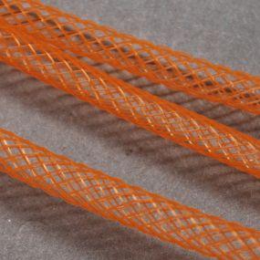 Síťka na korálky (modistická dutinka) 8mm 2,5m oranžová