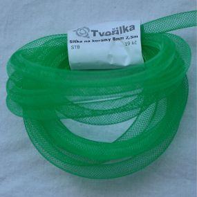 Síťka na korálky (modistická dutinka) 8mm 2,5m zelená