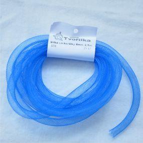 Síťka na korálky (modistická dutinka) 8mm 2,5m sv.modrá