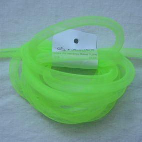 Síťka na korálky (modistická dutinka) 8mm 2,5m zářivě zelená