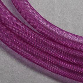 Síťka na korálky (modistická dutinka) 8mm 2,5m růžovofialová