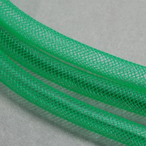 Síťka na korálky (modistická dutinka) 8mm 2,5m stř.zelená