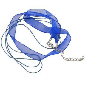 Šňůra na krk se zapínáním (SZA) modrá 1 ks