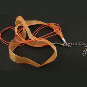 Šňůra na krk se zapínáním (SZA) oranžová 1 ks