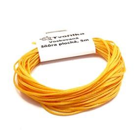 Voskovaná šňůra 0,8mm 5m žlutooranžová