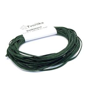 Voskovaná šňůra 0,8mm 5m tmavě zelená