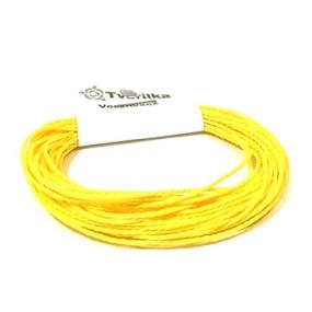 Voskovaná šňůra 1mm 5m žlutá kroucená