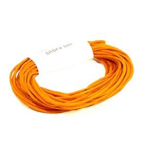 Voskovaná šňůra 1mm 5m oranžová