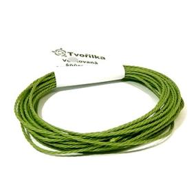 Voskovaná šňůra 1mm 5m zelená kroucená