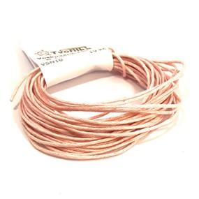 Voskovaná šňůra 1mm 5m světle růžová