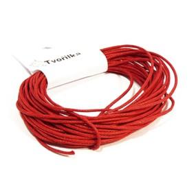 Voskovaná šňůra 1mm 5m červená