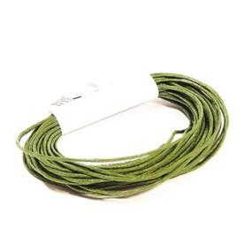 Voskovaná šňůra 1mm 5m tmavě zelená