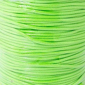 Voskovaná šňůra 1mm 5m zářivě zelená