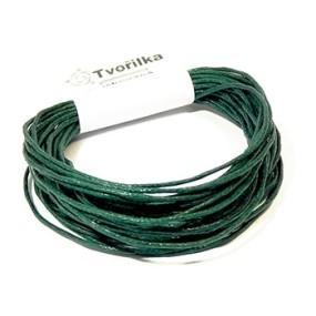 Voskovaná šňůra 1mm 5m temně zelená