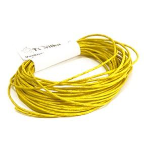 Voskovaná šňůra 1mm 5m žlutá