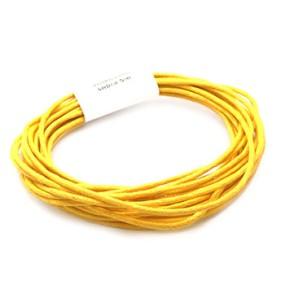Voskovaná šňůra 2mm 5m žlutá