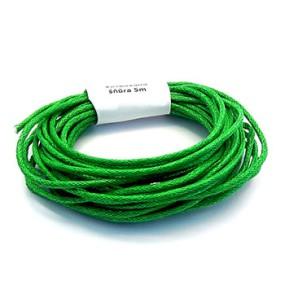 Voskovaná šňůra 2mm 5m zelená