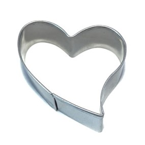 Vykrajovátko šikmé srdce 5 x 4 cm