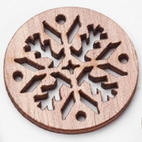 Dřevěný výřez kruh s ornamenty 30x30mm