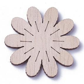 Dřevěný výřez květina 27x27mm