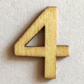 Dřevěný výřez slabší 4 22x15mm