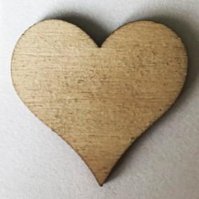 Dřevěný výřez srdce 15x20mm