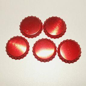Lůžko - zátka - červená lesklá (5ks) *ZAT5.9*